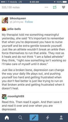 Self-reminder.