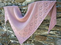 Ravelry: Floating Leaves pattern by Lisa Hannes Afghan Patterns, Baby Patterns, Stitch Patterns, Knitting Patterns, Diy Crochet And Knitting, Loom Knitting, Garter Stitch, Knitted Shawls, Shawls And Wraps