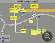 Map Of Yangling Mausoleum Of Han Dynasty Xian China Tourist Map City Layout Map