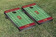 Northern State Wolves Cornhole Game Set Football Field Version >>> Want to know more, click on the image.