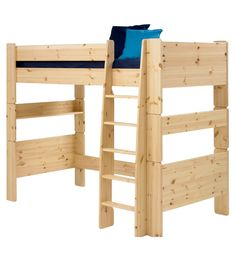 Steens For Kids High Sleeper Bed in Natural Lacquer