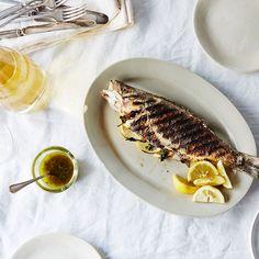 "Grilled Whole Branzino with ""Greek Fish Sauce"" Recipe on Food52 recipe on Food52"