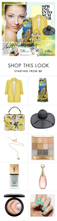 """Spring into Summer"" by rainie-minnie ❤ liked on Polyvore featuring River Island, Dolce&Gabbana, Yves Saint Laurent, Christian Dior, MAC Cosmetics, TheBalm and 3.1 Phillip Lim"