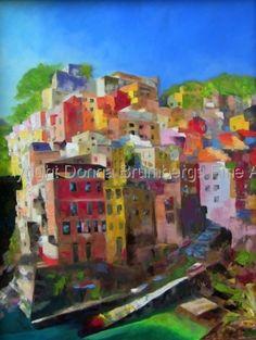 European cityscape, oil on canvas 30x40