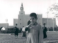 Kuwaiti children playing at front of Al Seif palace in 1966.