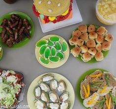 Tailgating Food Spread