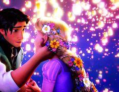 тесьма, дисней, цветок, волосы, огни