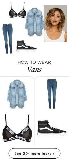 """Untitled #1046"" by anaiskwesele1 on Polyvore featuring Moschino, River Island, Vans and LE3NO"