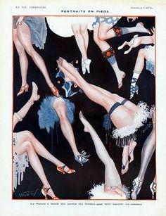 Portraits en pieds by Vald'Es 1921