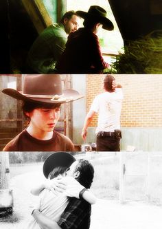 Rick Grimes and Carl Grimes