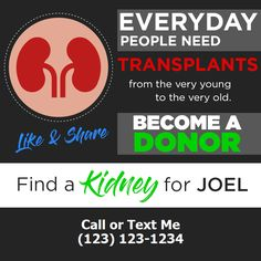 Kidney Donor, Young Old, Save My Life, Text Me, How To Become, People, Healthy, Campaign, Content