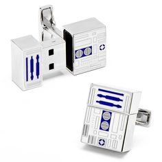 Hammacher Schlemmer | The R2-D2 USB Cufflinks