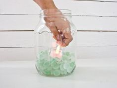 Dear Bees, I'm thinking of doing LEDs in mason jars lining a beam about chest-high throughought my venue. Mason Jar Lanterns, Mason Jars, Glass Lanterns, Hanging Lanterns, Canopy Outdoor, Outdoor Rooms, Retractable Canopy, Backyard Bbq, Backyard Projects