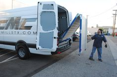 Bi-fold ramp! New with CINEMILLS Sprinter Vans.