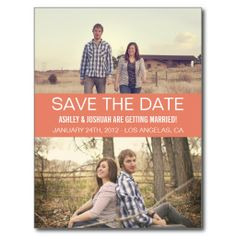 """""""Coral Modern Photo Save The Date Post Cards ... - < I found this near this ... http://www.pinterest.com/pin/507710557964883467/  and this pin  ... http://www.pinterest.com/pin/507710557964883511/ . >"""