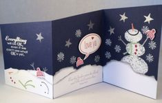 Snow Day Z Fold Card, Winter, Stampin' Up!  www.stampingcountry.com
