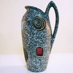 Rare West German Pottery Vase from the 50's - Design Heinz Siery for Scheurich