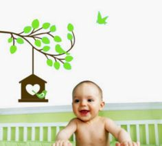 Upgrade your space with Studio Luka Lovely Nature Wall Decal that brings nature inside, Perfect for kids rooms and play areas. Kids Room Wall Stickers, Bird Wall Decals, Nursery Wall Decals, Tree Wall Art, Tree Branches, Room Inspiration, Wall Decor, Nurseries, Kids Rooms