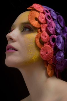 Headdress by Mercedes Mendez #colour
