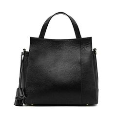 Leyan Fashion Womens Will Leather Tote Tophandle Cross Body Shoulder Bag Handbag PurseBlack >>> Read more reviews of the product by visiting the link on the image.Note:It is affiliate link to Amazon.