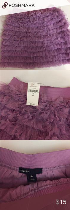 Purple ruffle skirt New with tags purple ruffle skirt super cute GAP Bottoms Skirts
