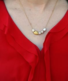 Freckled Italian | Montauk Pebble Necklace by Pame Designs