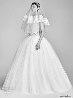 viktor and rolf spring 2018 bridal cap strapless sweetheart beaded bodice drop waist ball gown wedding dress (11) mv pocket romantic -- Viktor