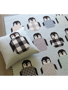 Penguin Party Quilt Pattern from Annie's Craft Store. Order here: https://www.anniescatalog.com/detail.html?prod_id=143997&cat_id=1644