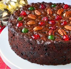Old English Dark Fruit Cake - Inspired by my Newfoundland upbringing, this dark English fruitcake with roots in the UK is one of my favourite things to look forward to at Christmas. Christmas Cooking, Christmas Desserts, Christmas Treats, Christmas Cakes, Christmas Fruitcake, Christmas Pudding, Holiday Cakes, Food Cakes, Cupcake Cakes