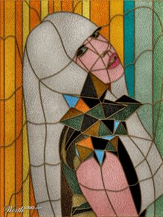 Lady Gaga faux stained glass