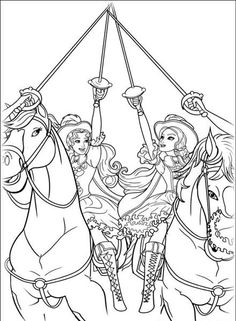 Barbie and The Three Musketeer Coloring Pages - Best Gift Ideas Blog