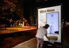 Ação criada pela AlmapBBDO permite imprimir jornal com as últimas notícias da…