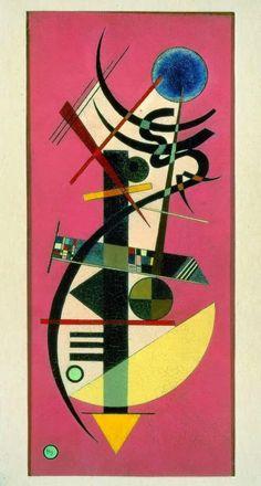 W. Kandinskji, Spritz Rund, 1925, olio su tela, GAMec, Bergamo.