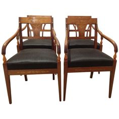 Set of 4 Danish Empire Chairs   From a unique collection of antique and modern armchairs at http://www.1stdibs.com/furniture/seating/armchairs/