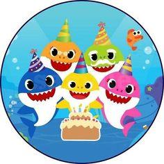 Baby Boy Birthday Cake, Birthday Party Themes, 2nd Birthday, Baby Hai, Shark Party Decorations, Baby Girl Born, Mary, Shark Cake, Printable Party