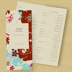 Floral Dream Program - Mocha | Blissful Gatherings