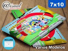 Convite Mickey Mouse 7x10cm