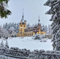 Places: The Peles Castle in the Carpathian Mountains, Romania :: This Is Glamorous Beautiful Castles, Beautiful World, Beautiful Places, Peles Castle, Bucharest Romania, Famous Places, Haunted Mansion, Beautiful Architecture, Foto E Video