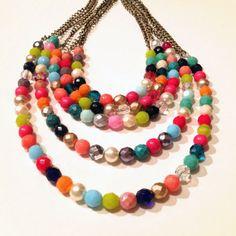 Chunky 5 Strand Multicolor Necklace - ボリュームたっぷりのカラフルな5連ネックレス | Monoco