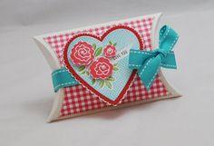 Pillow Box Gift Card Holder Heart With by CardsandMoorebyTerri, $6.50