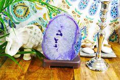Purple Agate Lamp.