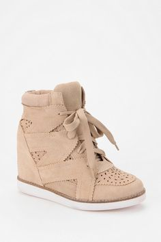 I want these!!!!!! Jeffrey Campbell Venice Suede High-Top Sneaker Online Only