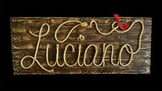 LUCIANO: 42 Rope Name Sign Western Country Cowboy by RopeAndStyle