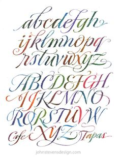 68 ideas tattoo fonts cursive pretty hand lettering for 2019 Tattoo Lettering Fonts, Watercolor Lettering, Graffiti Lettering, Lettering Styles, Lettering Design, Calligraphy Fonts, Watercolor Calligraphy Alphabet, Calligraphy Tutorial, 3d Typography