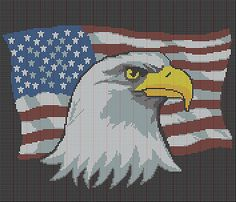 Ravelry: USA flag and each afghan chart pattern by Annastasia Cruz