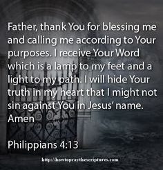 Read the Word of God and then memorize it so you can pray the Word of God.