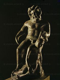 Polyphemus devouring one of Ulysses'companions. Bronze statuette (2nd CE). Inv. 812 Oppermann Collection   Bibliotheque Nat.,Cabinet des Medailles, Paris, France