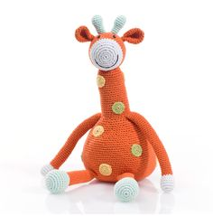 Giraffe - Organic Baby Rattle by Pebble