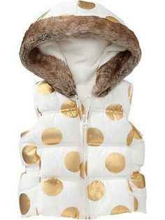 Quilted Frost-Free Vests for Baby | Old Navy - mom says it's hideous, i think it's amazing. so jersey!