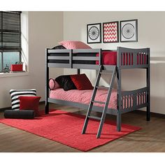 Classic Bunk Bed Frame With Trundle White Bunks Side By Sides Pinterest Frames And E Saving Beds
